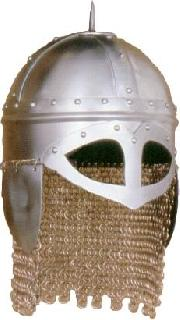 Viking Danish chain gorget Helmet