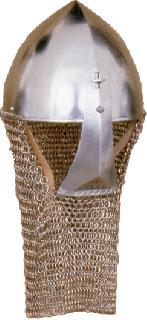 Spangenhelm clapvisor chain gorget Helmet