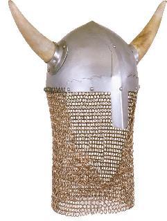 Spangenhelm horn chain gorget Helmet