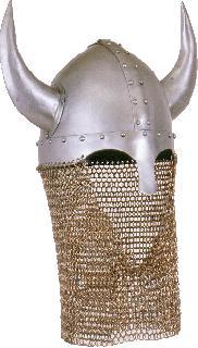 Spangenhelm iron horns chain gorget Helmet