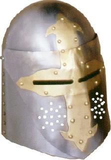 Rounded brass-visor Helmet