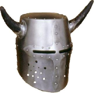 Rounded-horns Helmet