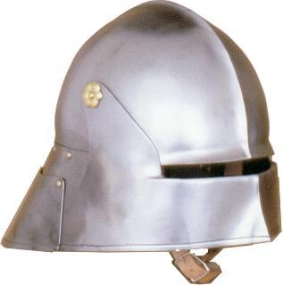 Open visor brass Helmet
