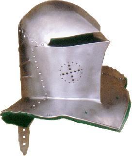 Frog mouthed gorget Helmet