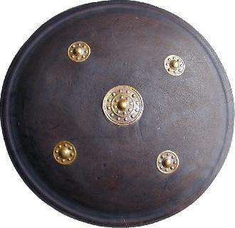 Leather & brass Shield