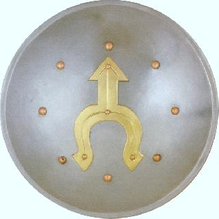 Buckler iron-brass Shield