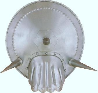 Buckler-glove spike-iron Shield