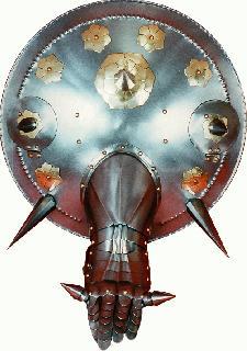Shield-fighting-big iron-brass Shield