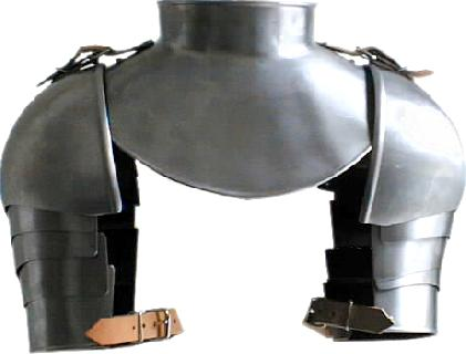 Gothic gorget with shoulders and plates