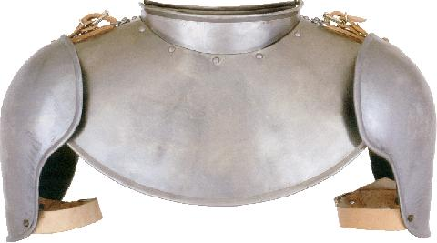 Gothic gorget with shoulders