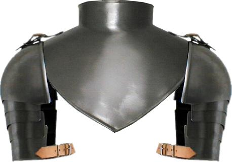 Renaissance gorget with shoulders and plates
