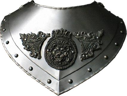 Renaissance gorget ornate