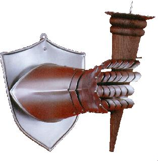 Shield with Candlestick