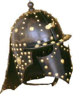 Pappenheim black brass Helmet