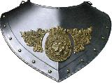 Renaissance gorget ornate (CZ-06.06)