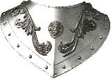 Renaissance gorget ornate (CZ-06.03)