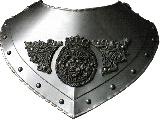 Renaissance gorget ornate (CZ-06.04)